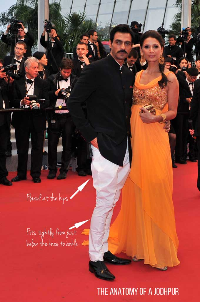 Arjun Rampal wearing jodhpurs at Cannes