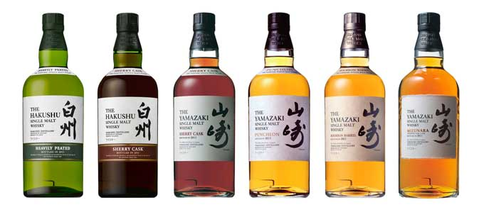 Collection of Suntory single malts, including the award winning Yamazaki Single Malt Sherry Cask 2013